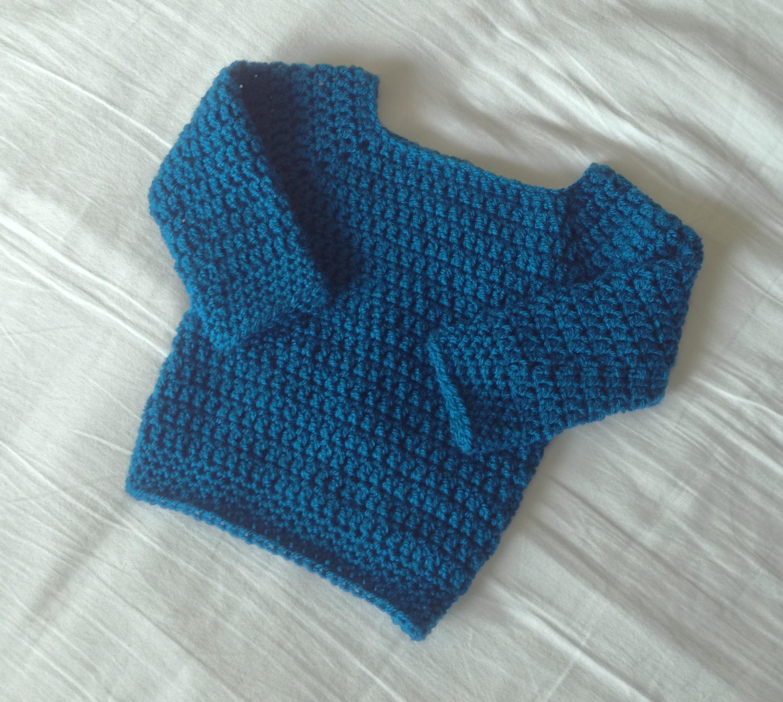 Baby Sweater Coffee Crochet